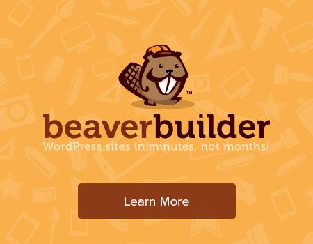 BeaverBuilder - WordPress sites in minutes, not months!